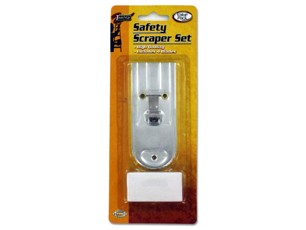 Safety scraper set with extra blades
