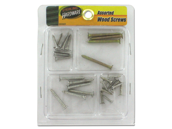 Assorted wood screws
