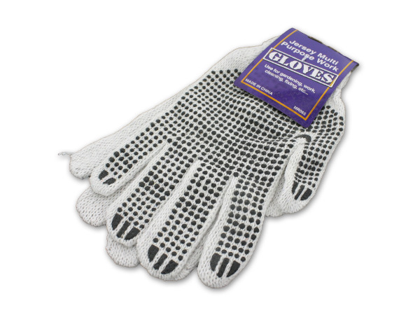 Multi-purpose jersey work gloves