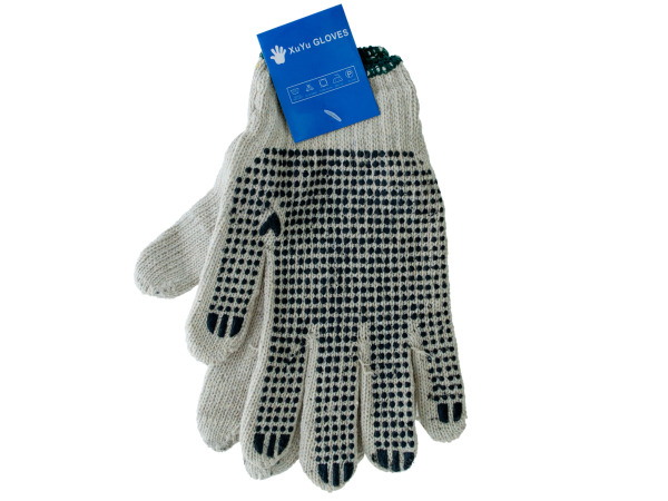 pair work gloves with dots