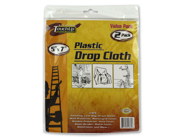 Plastic drop cloth set