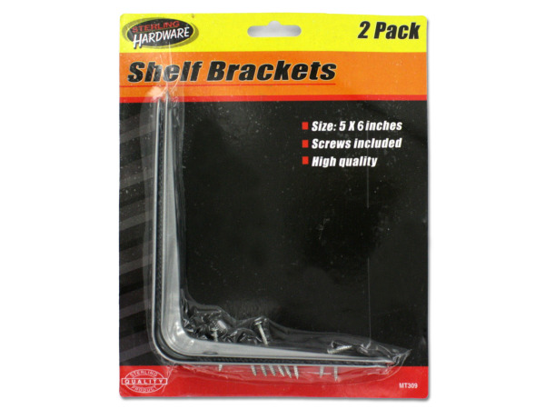 Shelf brackets with screws