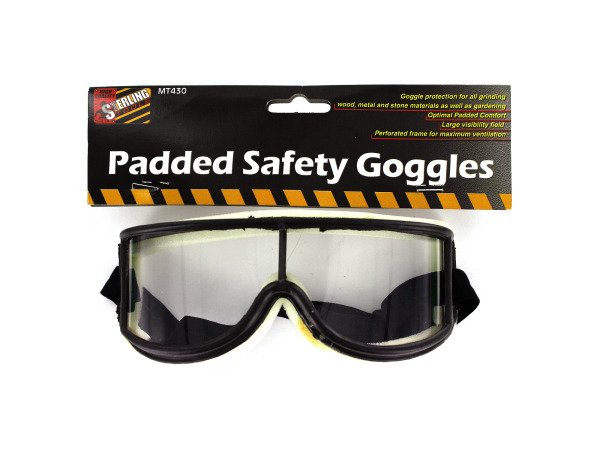 Padded safety goggles