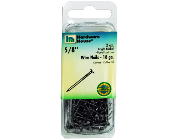 Bright nickel wire nails, 2 ounces