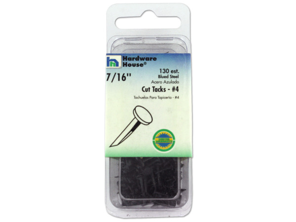 Blued steel cut tacks, 2 ounces