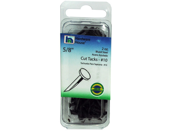 2 oz 5/8 inch cut tacks #10 blued steel