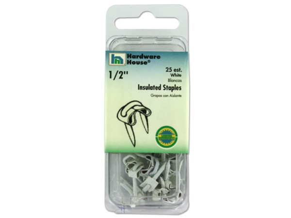 White insulated staples, pack of 25