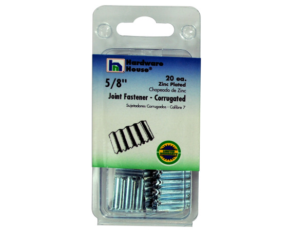 Zinc-plated large corrugated fasteners, pack of 20
