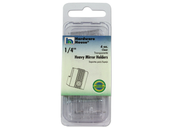 "Heavy mirror holders, 1/4"", 4 pack"