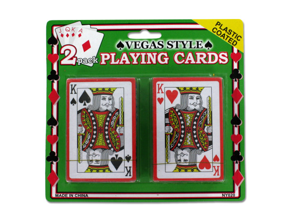 Vegas style playing cards