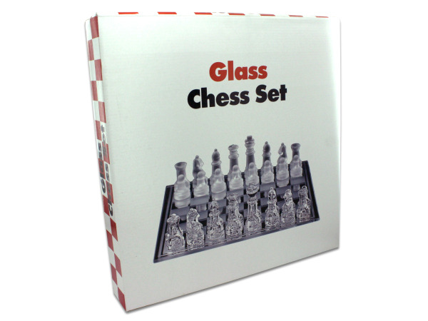 Glass chess set