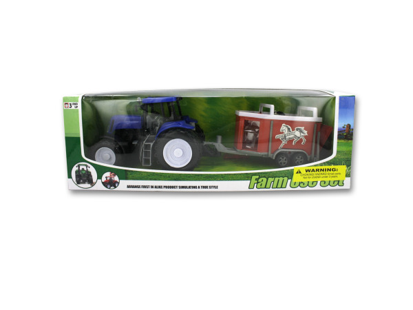 Children's farm tractor set