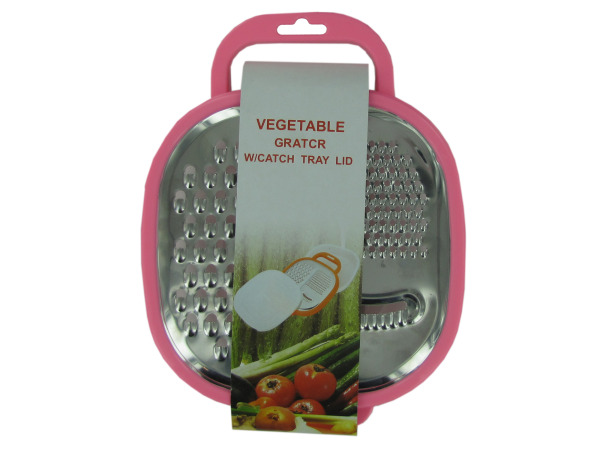 Grater with catch tray