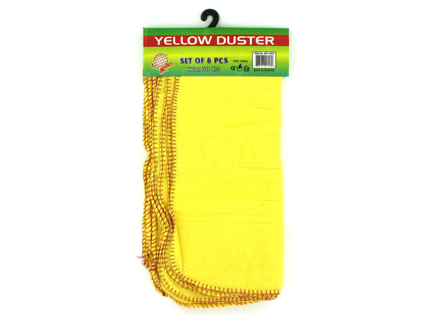 Pack of six multi-use yellow dusters