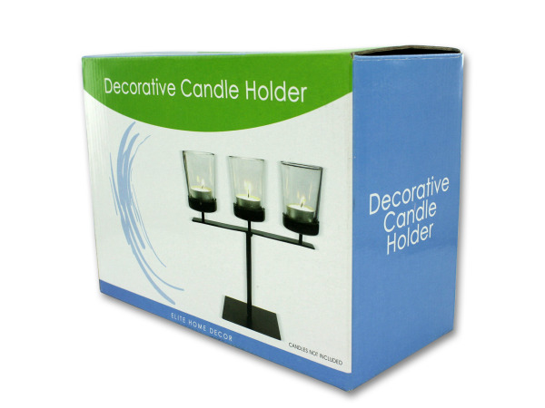3 Piece decorative candle holder set