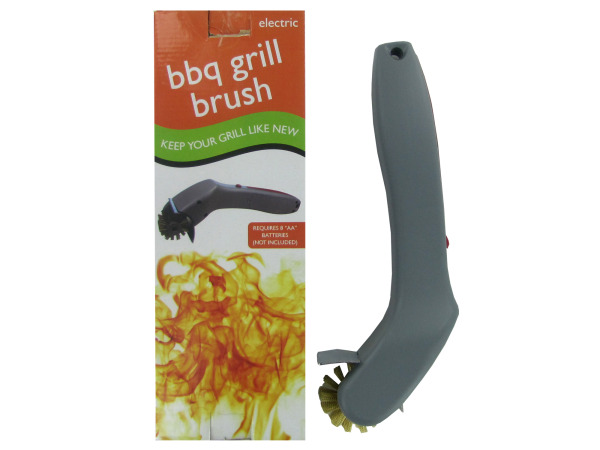 Electric barbecue grill brush