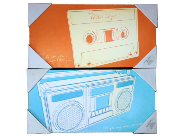 8 x 16 x .75 inch art 2 styles tape or radio