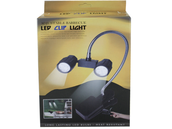 Clip-on LED barbecue light