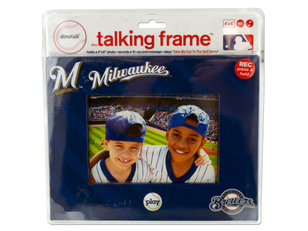 "Milwaukee Brewers 4"" x 6"" recordable frame"