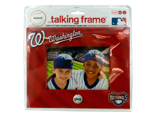 "Washington Nationals 4"" x 6"" recordable frame"