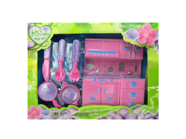 Kitchen Play Set with Utensils and Cookware