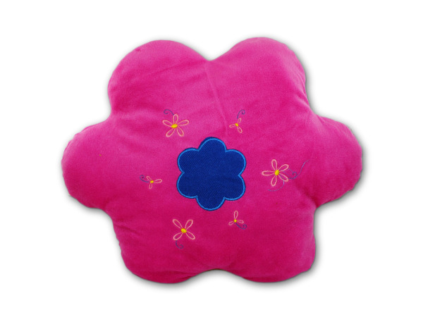 flower embroidered pillow