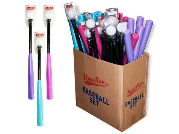 Plastic Bat and Ball Display