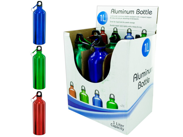 1 Liter Aluminum Bottle Counter Top Display