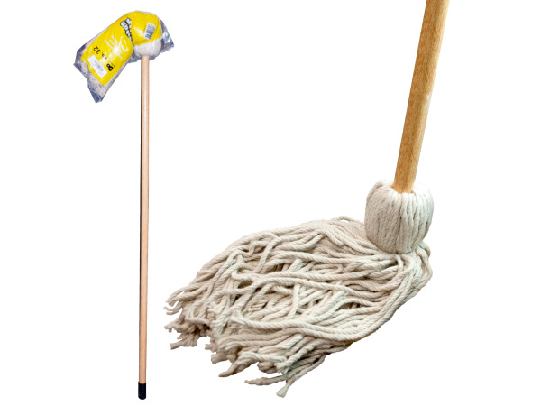 Cotton Mop with Wood Handle