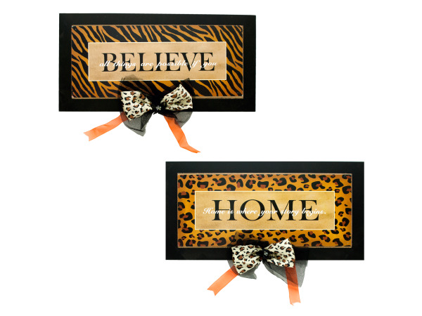 Animal Print Inspirational Wall Plaque