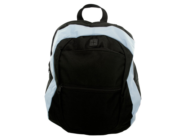 Light Blue and Black Canvas Backpack