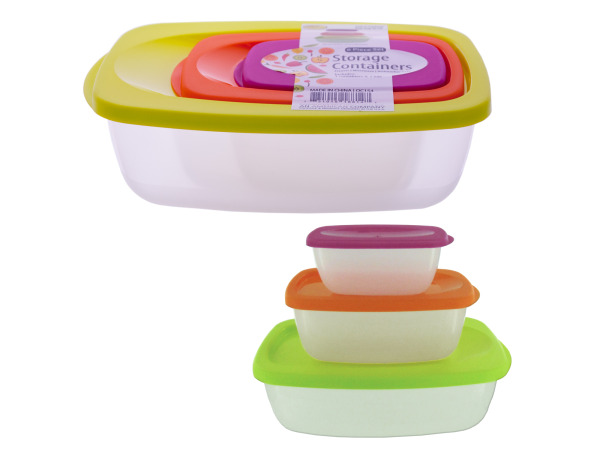 Nesting Rectangular Storage Container Set