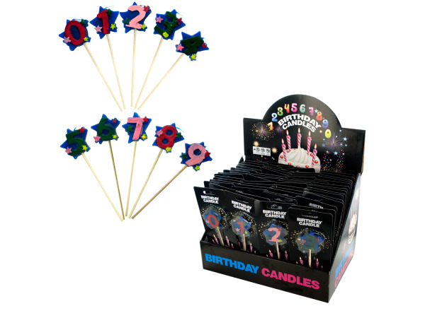 Stick Birthday Candles Counter Top Display