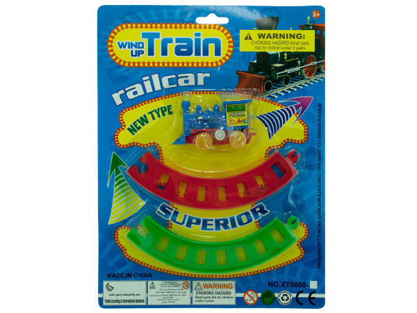 Wind Up Toy Train with Track Set