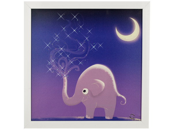 Starry Elephant Night Musical Light Up Art