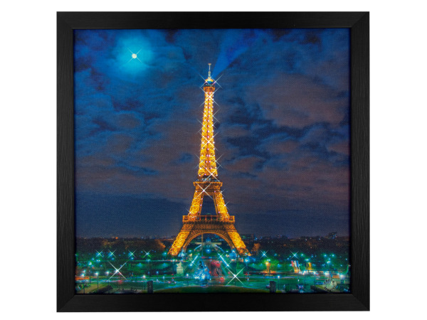 Paris Nightscape Light Up Art