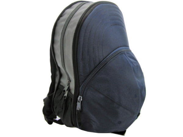 expandable navy backpack