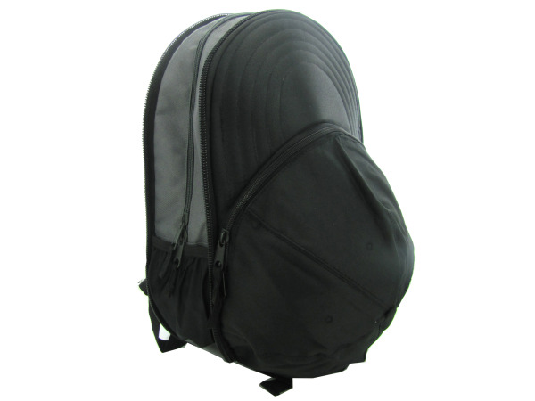 expandable black backpack