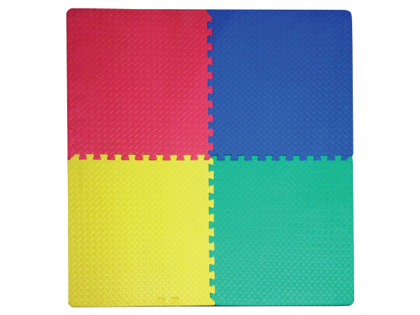 4' x 4' Multi-Use Foam Play Mat with Interlocking Squares
