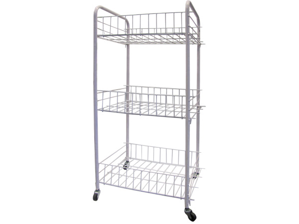 3-Tier Storage Cart with Wheels