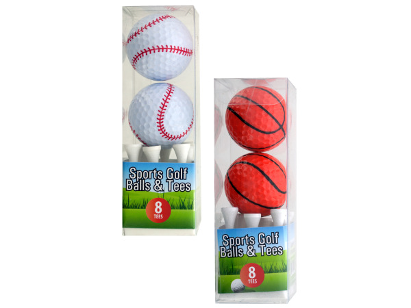 Sports Golf Balls and Tees Set