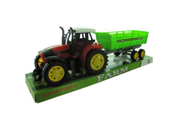 Friction Farm Tractor Truck and Trailer Set