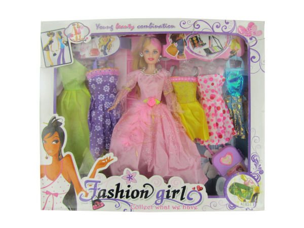 Fashion Girl Doll with Dresses