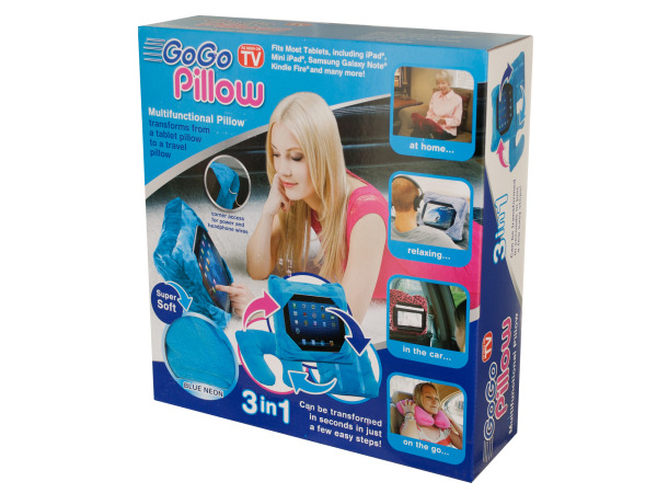 Neon Blue GoGo Multi-Functional Tablet Pillow
