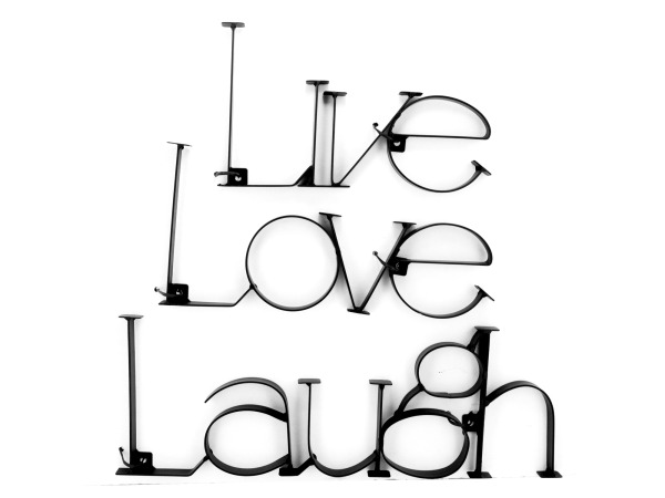 Live Love Laugh Metal Wall Plaque