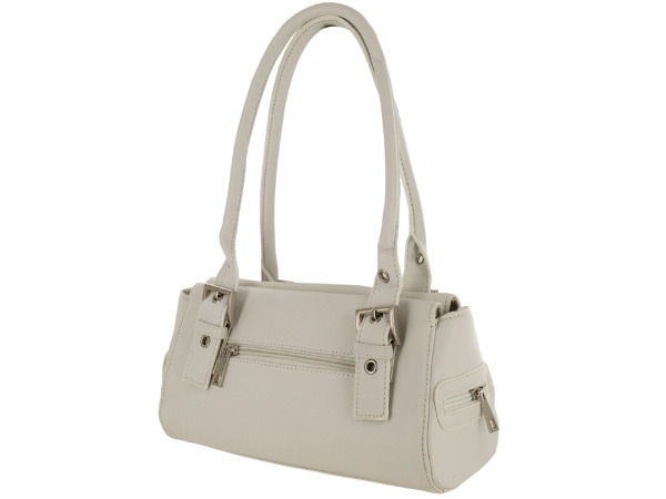 White Handbag with Pockets