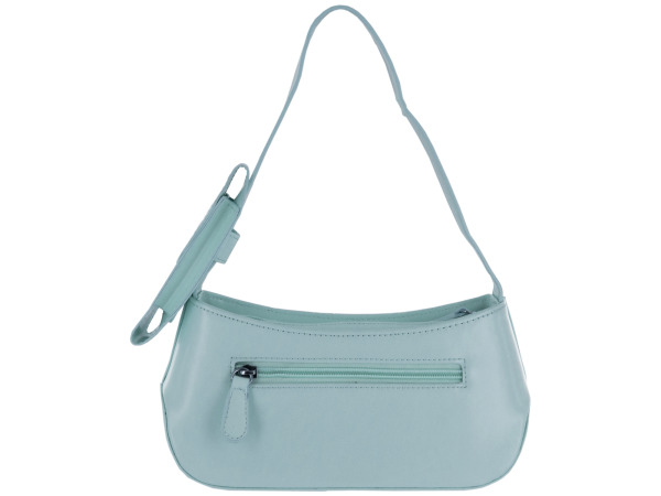 Small Light Blue Handbag with Cell Phone Case