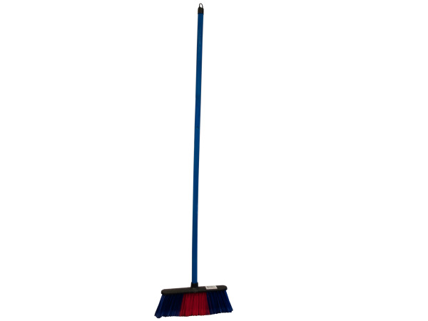 Broom with Colored Bristles and Handle
