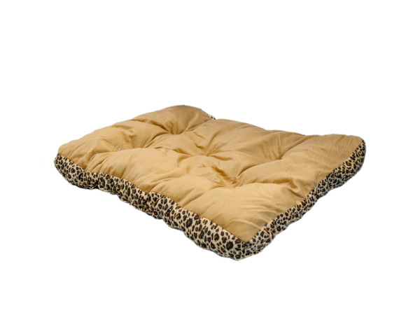 Rectangular Leopard Print Pet Bed