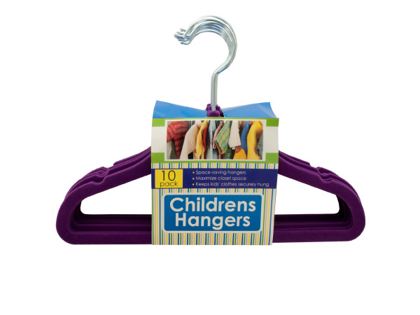 Velvet-Flocked Children's Hangers Set